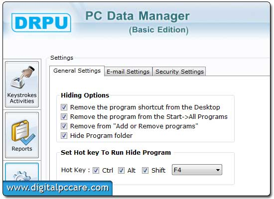 Download PC monitoring Remote Key Logger tool