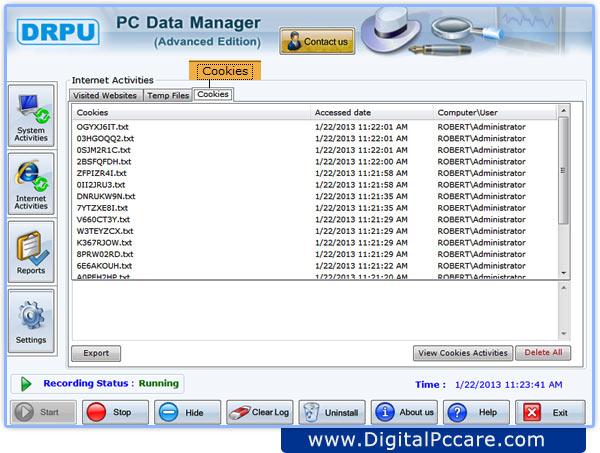 Internet activity monitoring software - bioemporium