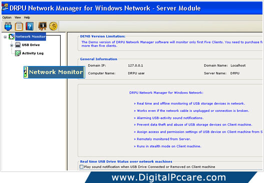 USB data protection tool for Windows network data transfer
